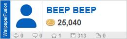 BEEP BEEP's profile on WallpaperFusion.com